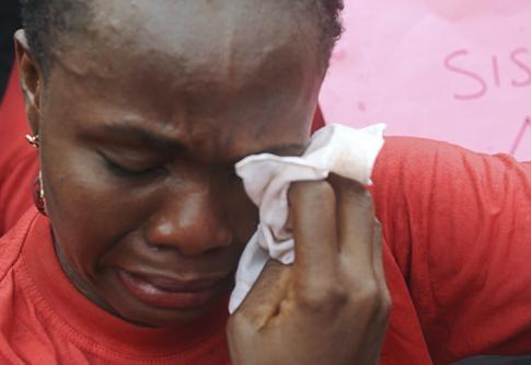 Les larmes d'une mère nigériane de Chibok