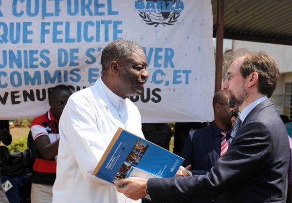 Lors de sa visite dans la province du Sud Kivu, le Haut-commissaire des Nations unies aux Droits de l'homme, Zeid Ra'ad Al Hussein, a visité l'hôpital Panzi et s'est entretenu avec le docteur Denis Mukwege, l'homme qui répare les femmes victimes de violences sexuelles.